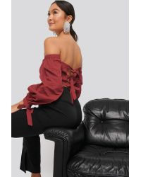 NA-KD Back Detail Structured Blouse
