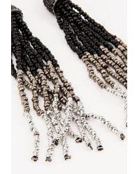 NA-KD - Black Hanging Beads Tassels Earrings - Lyst