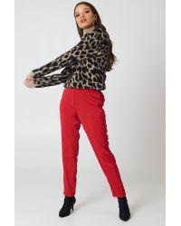 NA-KD Multicolor Oversized Leo Sweater