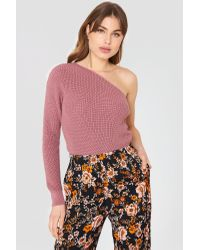 NA-KD Multicolor One Shoulder Oversize Knitted Sweater