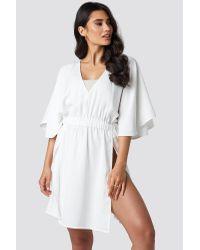 Kimono Sleeve Beach Dress NA-KD en coloris White