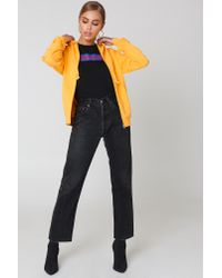 NA-KD - Basic Zipped Hoodie Strong Yellow - Lyst
