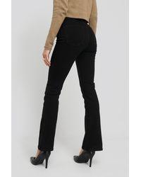 NA-KD Recycled Split Hem Skinny Jeans in het Black