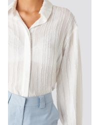 NA-KD Structured Blouse in het White