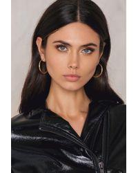 NA-KD | Metallic Flat Hoop Earrings | Lyst