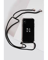 NA-KD Rope Band Phone Case in het Black