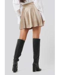 Trendyol Velvet Knitted Skirt in het Natural