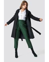 Trendyol Arched Coat Black