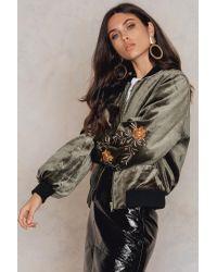 NA-KD Multicolor Velvet Sleeve Embroidery Jacket
