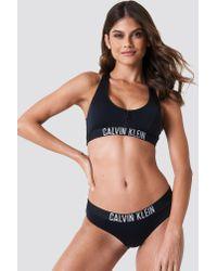 Calvin Klein - Black Hipster-hr Bikini Bottom - Lyst