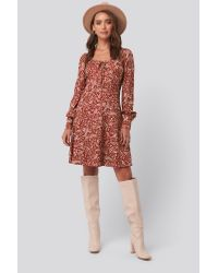 Trendyol Red Patterned Mini Dress