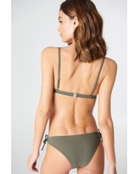 Filippa K - Multicolor Bikini Bra Top Khaki - Lyst