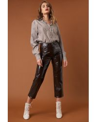 Brown Stripe Basic Shirt NA-KD