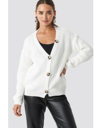 NA-KD Multicolor Big Button Knitted Cardigan