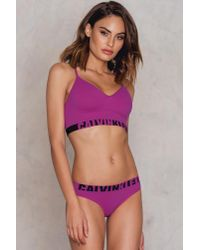 Calvin Klein Purple Seamless Logo Bikini