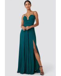 Trendyol Tile Evening Dress in het Green