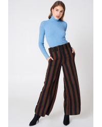 Trendyol Ribbed Polo Sweater Blue
