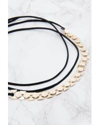 NA-KD - Metallic Suede Necklace With Metal Choker - Lyst