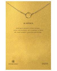 Dogeared | Metallic Original Karma Necklace | Lyst