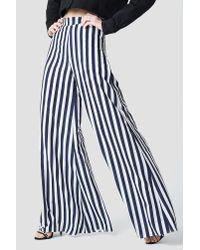Aéryne Paris Blue Lea Trousers Navy Stripe