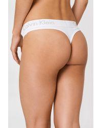 Calvin Klein Cotton Thongs White