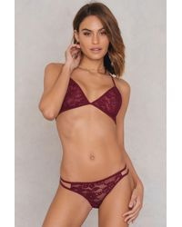 Glamorous - Multicolor Lace Triangle Bralette - Lyst