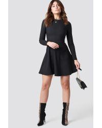 Trendyol Long Sleeve Mini Dress Black