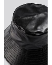 NA-KD Black Accessories PU Bucket Hat