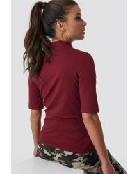 Jersey Cut-out Top NA-KD en coloris Red