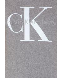 CALVIN KLEIN 205W39NYC - Gray Shrunken Tee True Icon - Lyst