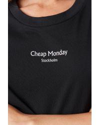 Cheap Monday Black Perfect Tee Chp Mnd Logo