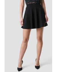NA-KD Black Pamela x Circle Cut Skirt