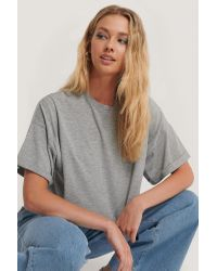 NA-KD Gray Annais x Oversize-T-Shirt