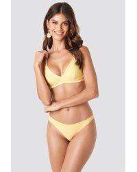 NA-KD Yellow Swimwear Cup Shape Bikini Top