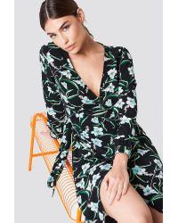 Flower LS Wrap Dress Rut&Circle en coloris Multicolor