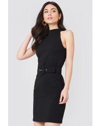 Trendyol Black Belted Waist Dress