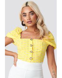 Trendyol Yellow Yol Balloon Sleeve Blouse