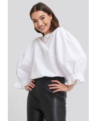 Big Sleeve Top NA-KD en coloris White