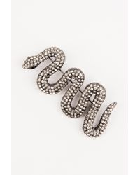 NA-KD - Black Snake Brooch - Lyst