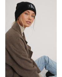 Calvin Klein Black Beanie-Mütze