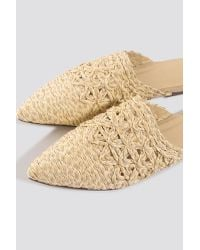 Pointy Strawy Sandals NA-KD en coloris Natural