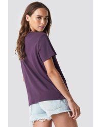 Bad Habits Oversized Tee NA-KD en coloris Purple