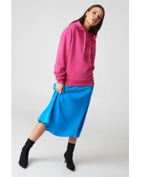NA-KD - Basic Hoodie Strong Pink - Lyst