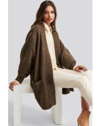 Trendyol Pocket Detailed Cardigan in het Brown