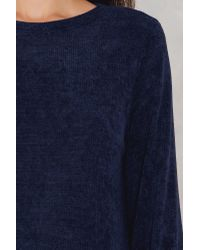 NA-KD Blue Round Neck Tied Sleeve Sweater