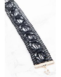 NA-KD   Black Wide Crochet Choker   Lyst