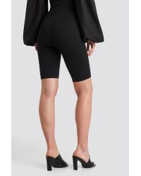 NA-KD Black Nicole Mazzocato x Fitted Long Shorts