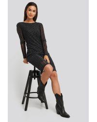 Deep Back Straight Dress NA-KD en coloris Black