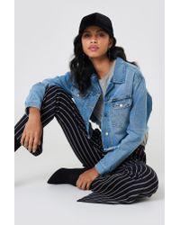 Wrangler - Blue Retro Crop Jacket Fiji - Lyst