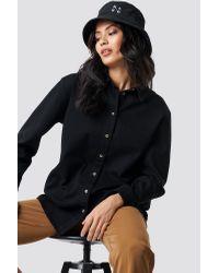 Oversize Denim Shirt NA-KD en coloris Black